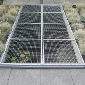 #001 Vijver afdek scherm 100 x 200 cm Geanodiseerd aluminium