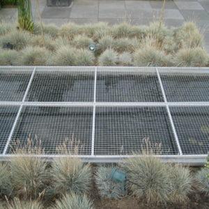 #002 Vijver afdek scherm geanodiseerd aluminium